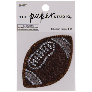 Football Glitter & Rhinestones Sticker