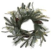 Pinecone & Eucalyptus Leaf Candle Ring