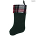 Green Stocking With Plaid Cuff