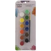 Assorted Colors Acrylic Paint Pots - 13 Piece Set