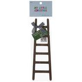 Mini Merry & Bright Wood Ladder