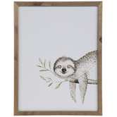Sloth Wood Wall Decor