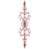 Red Heart Scroll Metal Wall Decor