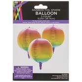 Rainbow Foil Sphere Balloons