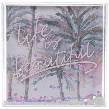 Life Is Beautiful Glitter Shaker Frame