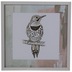 Pastel Spotted Bird Framed Wood Wall Decor