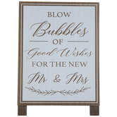 Blow Bubbles Of Good Wishes Wood Decor