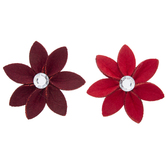 Red Poinsettias 3D Stickers