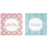 Pink Or Blue Reveal Napkins - Small