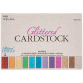 "Glittered Cardstock Paper Pack - 4 1/2"" x 6 1/2"""