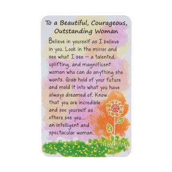 Beautiful Courageous Woman Wallet Card