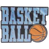 Basketball Foil Wood Wall Decor