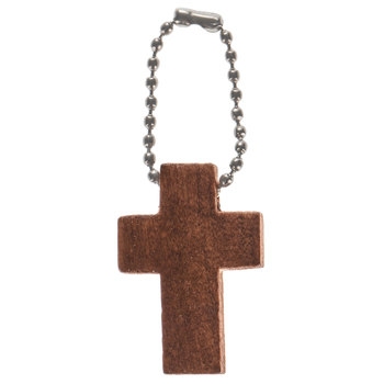 Brown Wood Crosses On Ball Chain