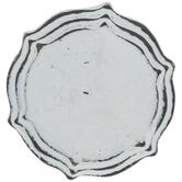 White Distressed Round Metal Knob