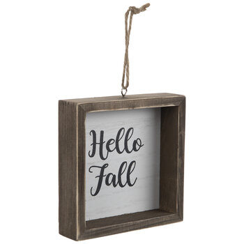 Hello Fall Wood Ornament