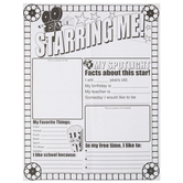 """Starring Me Coloring Posters - 17"""" x 22"""""""