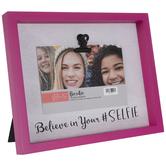 "Believe In Your Selfie Wood Clip Frame - 6"" x 4"""