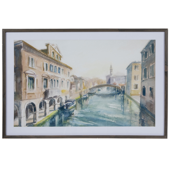 Venice Canal Waterway Framed Wall Decor