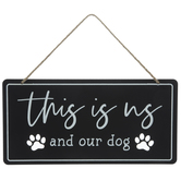 This Is Us And Our Dog Metal Wall Decor