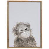 Orangutan Baby Wood Wall Decor
