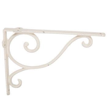White Simple Swirl Metal Wall Bracket