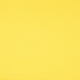Yellow & White Polka Dot Cotton Calico Fabric