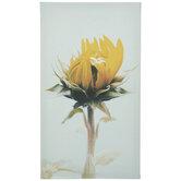 Sunflower Stem Canvas Wall Decor