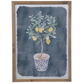 Lemon Tree Sapling Framed Wall Decor