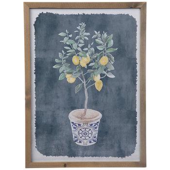 Lemon Tree Sapling Framed Wall Decor