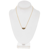 10K Gold Plated Hammered Half Circle Necklace