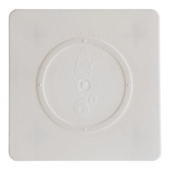"White Square Cake Separator Plate - 6"""