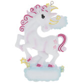 White Unicorn Personalized Ornament