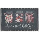 Sweet Holiday Jars Doormat