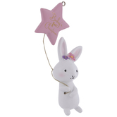 Pink Bunny Baby's First Christmas Ornament