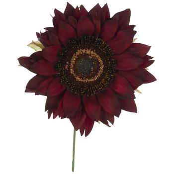Dark Red Sunflower Pick