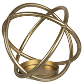 Gold Sphere Metal Candle Holder