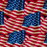 American Flags Fleece Fabric