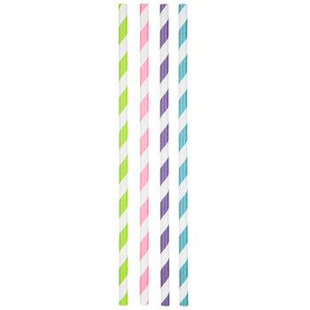Bright Striped Paper Straws