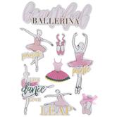 Beautiful Ballerina 3D Stickers