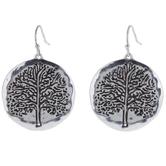 Tree Round Earrings