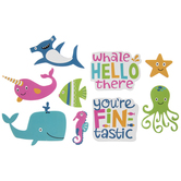 Whale Hello There Stickers