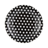Black & White Polka Dot Paper Plates - Small