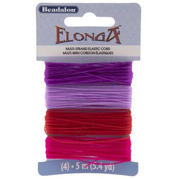 Pink, Purples & Red Elonga Multi-Strand Elastic Cord