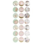 Mint & Blush Floral Foil Stickers