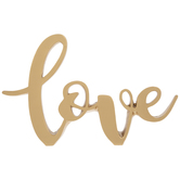 Metallic Gold Love Decor
