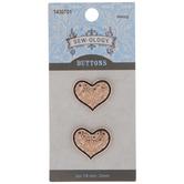 Rose Gold Heart Shank Buttons - 22mm