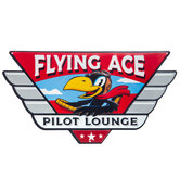 Flying Ace Metal Sign