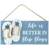 Better In Flip Flops Wood Wall Decor