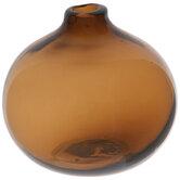Brown Round Glass Vase