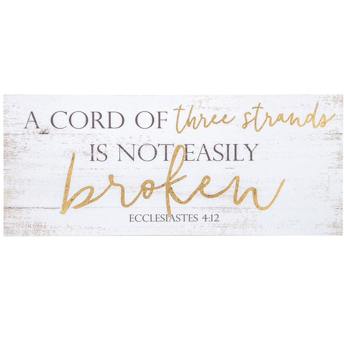 Ecclesiastes 4:12 A Cord of Poster Print Picture or Framed Wall Art